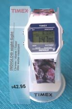 TIMEX INDIGLO WATCH - White with Printed Band (Reloj Blanco). BRAND NEW & BOXED!