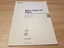 Originale Sony manual de instrucciones para scd-xb940qs