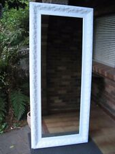 X-Large Full Length Wall Mirror Ornate White Wood Frame 2Mx88cm FREE SYDNEY DEL
