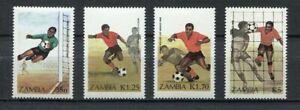 s6165) ZAMBIA 1986 MNH** WC Football'98-CM Calcio 4v