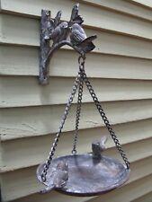 French Vintage Style Hanging Bird Feeder Bird Bath Cast Iron Garden Ornament