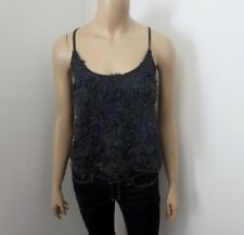 Abercrombie Womens Lace Flower Embellished Tank Top Size Large Cami