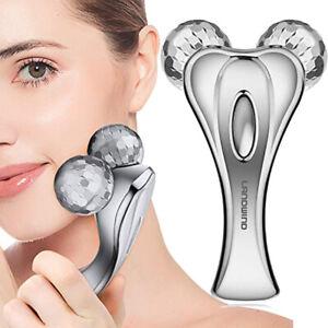 LANDWIND Y Shape Beauty Massage Roller Facial & Body Facial Equipment 3D Silver