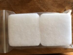 "Square 2 "" Thin Exfoliating Buff Puff Facial Scrubbing Pads Cleanser Infused"
