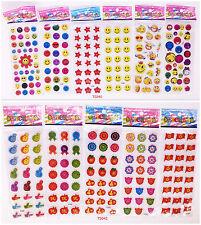 11 SHEETS 3D teacher school smile Stereoscopic reward Stickers lot- Kids gift