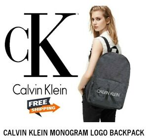 CALVIN KLEIN BACKPACK Unisex Monogram Logo SCHOOL LAPTOP BAG NEW WITH TAGS