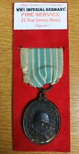 WW1  Imperial German  Fire Service Decoration for 25 Years Service medal