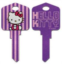 """HELLO KITTY """" GLITTER REVERSABLE """" House Key Blank KWIKSET KW  SANRIO TV"""
