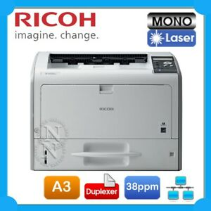 Ricoh SP6430DN A3 Mono Laser Network Printer+Auto Duplexer 38PPM+1-Year Warranty