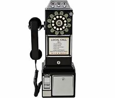 Wild & Wolf 1950s American Diner Phone Black Retro Payphone style
