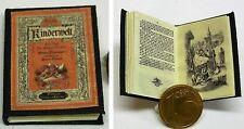 1014# Miniaturbuch Kinderbuch - Kinderwelt - Puppenhaus - Puppenstube - M 1zu12