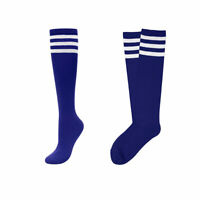 Fashion Women Girls Long Socks Blue Striped Over The Knee Thigh High Stocking US