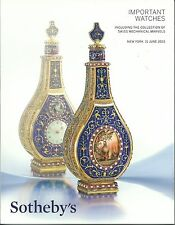 SOTHEBY'S WATCH Swiss Mechanical Marvels King Farouk Piguet Breguet Catalog 2015
