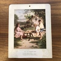 Rare Early 1900s Advertising Calendar Card with Poem James Arthur CHILDREN PLAY