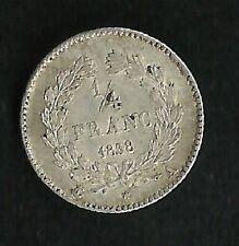1/4 Franc Louis Philippe 1838 A Argent Qualité SUP