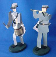 Edna Oar Young Shadowdancer folk art Americana civil war soldiers rebel set of 2