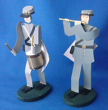 Edna Oar Young Shadowdancer folk art Americana civil war soldiers rebel set of 2