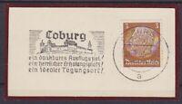 Dr Mi No. 513 With Ws Coburg Ausflugsziel 1939 on Letter Piece