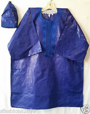 Men Clothing Brocade Print Dashiki Top Cap African Ethnic Shirt Plus Size Purple