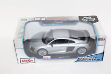 MAISTO AUDI R8 V10 PLUS SILVER SPECIAL EDITION 1:18 NEW SEALED 46629 SHIPS BOXED