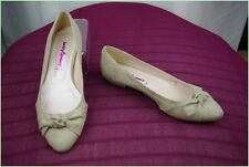 Ballerines BETTY FLOWERS Daim Beige T 36 TBE