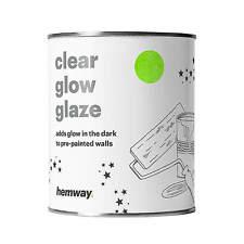 Hemway Glow In Dark Clear Glow Glaze Paint starry night 3D effect Bedroom
