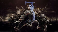 """002 Middle Earth Shadow of War - Army Orc Fight Game 42""""x24"""" Poster"""