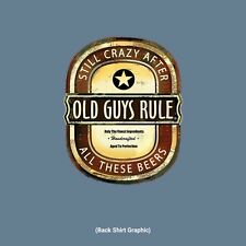 "Old Guys Rule "" Craft Brew "" Still Crazy After All These Beers "" T-Shirt Size 2X"