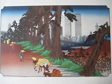 """MICHAEL KNIGIN """"THE 26TH STATION OF THE KISOKAIDO"""" AFTER HOROSHIGE SERIGRAPH"""