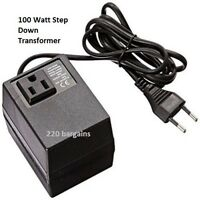 220/240 To 110/120 Volt European Power Converter Step Down Transformer 100 watt