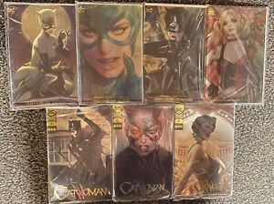 Catwoman Harley Quinn Poison Ivy GOLD FOIL Convention Variant Artgerm SEALED Lot