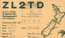 1961 VINTAGE QSL HAM RADIO CARD Wellington or Hamilton, New Zealand