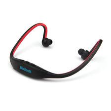 Écouteurs arceaux rouge bluetooth sans fil