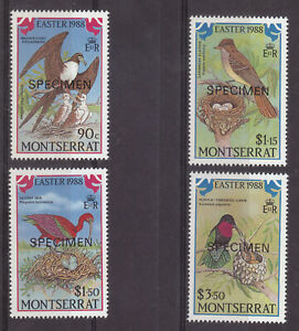 Montserrat 1988 Easter Birds SG748 - 751 Specimen MNH Lovely Condition