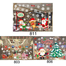 Window Cling Stickers Christmas Static Snowflake Decals Home Decor Reusable UK