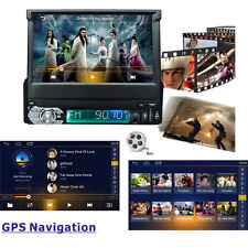 "Android 6.0 7"" GPS Navigation 1DIN Car Stereo Bluetooth Radio MP3 WIFI In Dash"