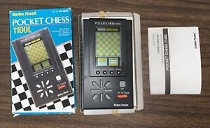 Vintage RadioShack Pocket Chess 1100L 60-2256 New in Box, Old Stock RARE HTF