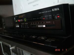 Vintage 1986 Aiwa Stereo Cassette Deck AD-R30 Auto Reverse 2 Head Dolby bc
