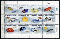 Marshall Inseln 2011 Fische Fishes Poissons Kleinbogen Postfrisch MNH