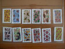 Série complète Tissus africains 2019 (1657 à 1668) , 12 timbres