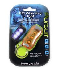 ORANGE LED Warning Light Safety Cycling Walking Jogging Camping Keyring Bag UK