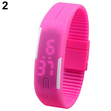 LED Men Women Striking Silicone Watch Sport Bracelet Touch Digital Wrist Watch