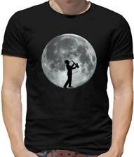 Saxophone Player Moon - Mens T-Shirt - Sax - Musician - Jazz - Music