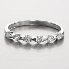 CZ Silver Stackable Ring ~ Size 9