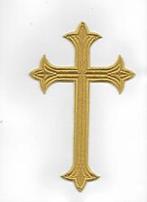 GOLD LUREX CROSS. BEAUTIFULLY EMBROIDERED TO THE HIGHEST STANDARD