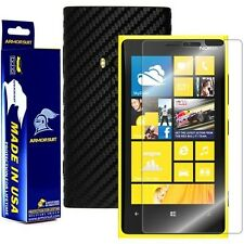 ArmorSuit MilitaryShield Nokia Lumia 920 Screen + Black Carbon Fiber Skin! New!