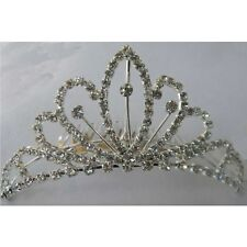 New Wedding Bridal Rhinestone Crown Headband Jewelry Tiara Hair Clip Headpiece