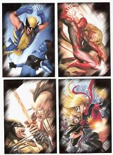 2010 MARVEL HEROES VILLAINS COMPLETE COMIC TRADING CARD SET X MEN ,SPIDER MAN