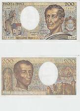 Gertbrolen  200 Francs MONTESQUIEU  Année 1987  G .046 Billet N° 0906174587