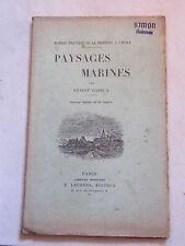 Manuel Pratique de la peinture à l'huile Paysages Marines Hareux 1944